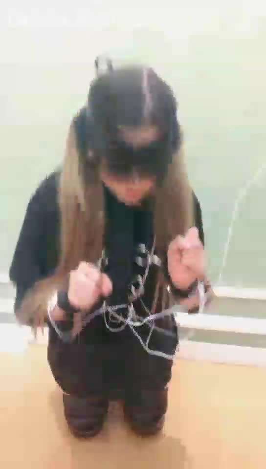 High definition, training electric shock bondage female slave