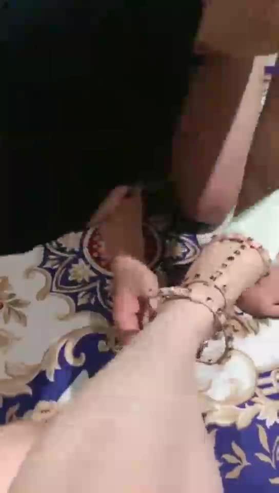 Licking soles, washing feet, tongue and foot massage