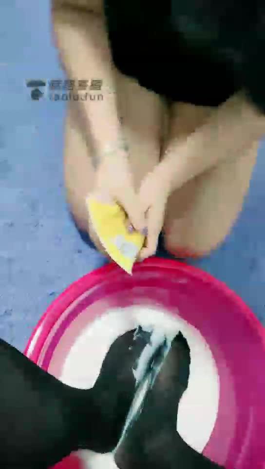 High definition, female slave waits on milk to soak feet and feeds bitch