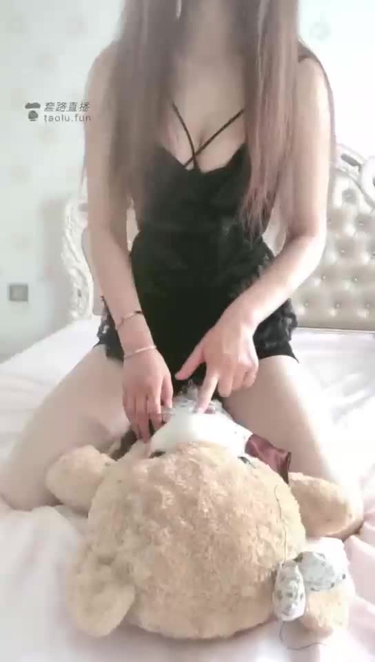 Suffocation under the ass, humiliated, doll bear
