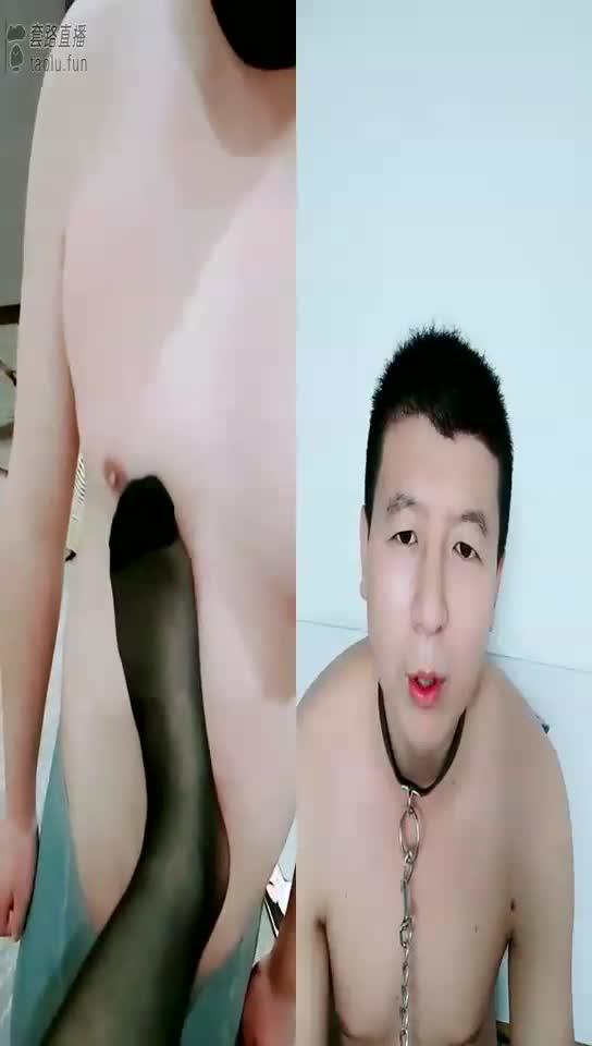 Change cotton socks to black silk, lick super white feet