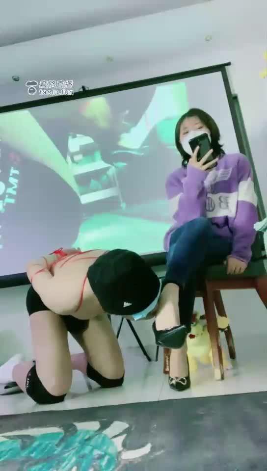 Cheap dog licks shoes and feet, big screen, enjoy and appreciate