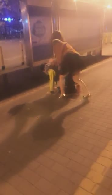 Share with friends, play with dogs in the open air on the road, let passersby watch, cheap dogs are scared