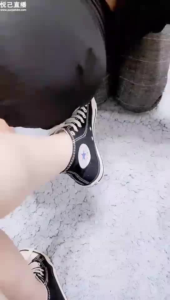 Lick canvas shoes, lick feet, kiss shoes
