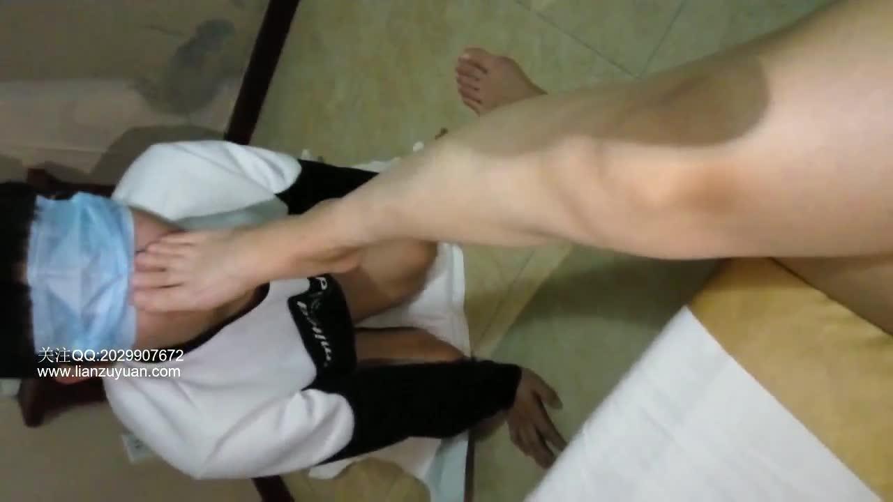 Bare feet interrupted, deep throat, feet licking