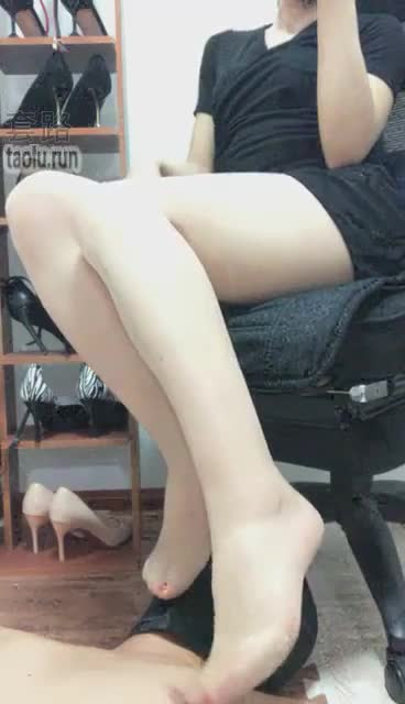 Flesh-colored stockings, forced ejaculation