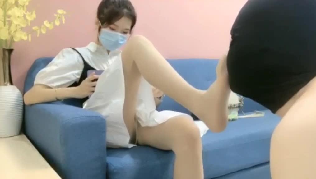 Femdom domestic slave, licking feet