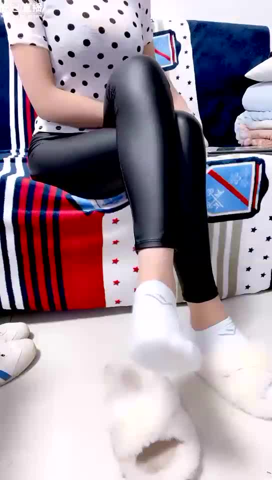 Leather pants cotton socks cotton drag show