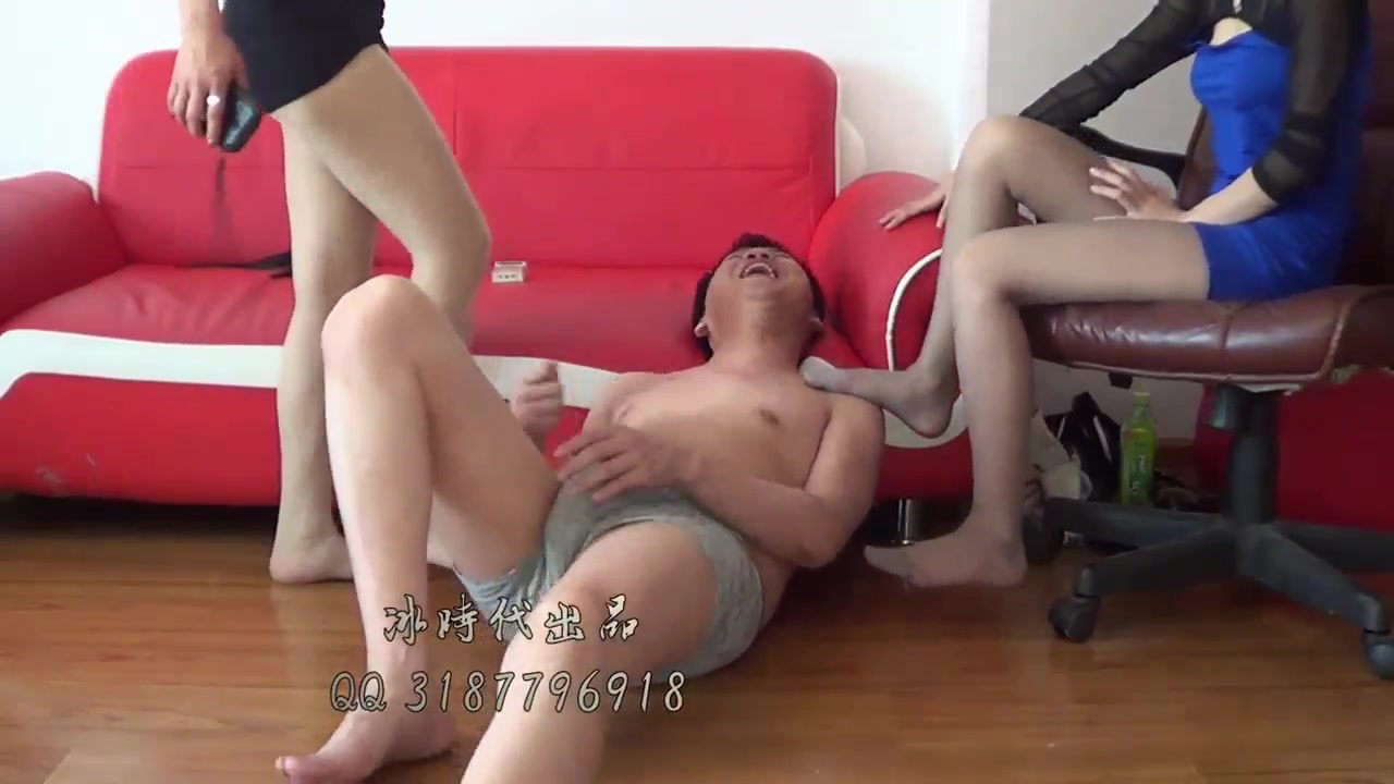 Yaoyao black ice double S stockings humiliated and trampled