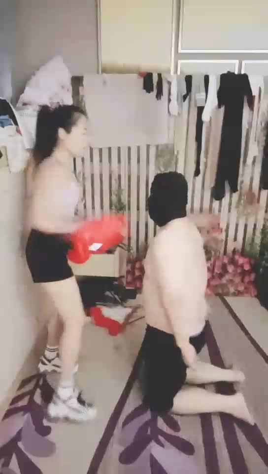 Violent beating of slaves