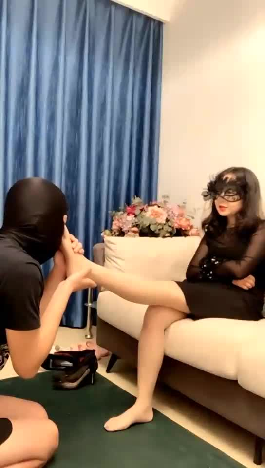 Twitching slaves, licking dirty soles, humiliation, holy water