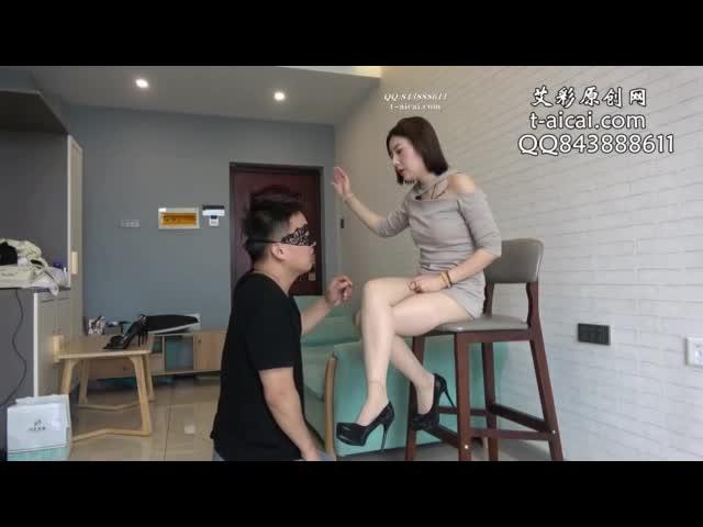 Violent slapped perverted shoe fetishism slapped