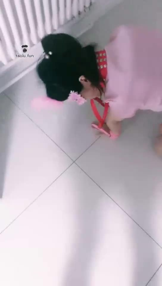 Little bitch with hands and feet tied